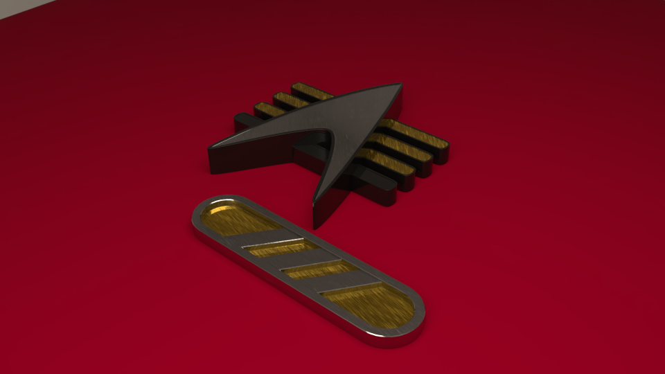 Combadge and Provisional Rank by SpiderTrekfan616