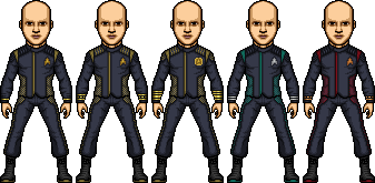 Castaways Discovery Male Uniform Templates by SpiderTrekfan616