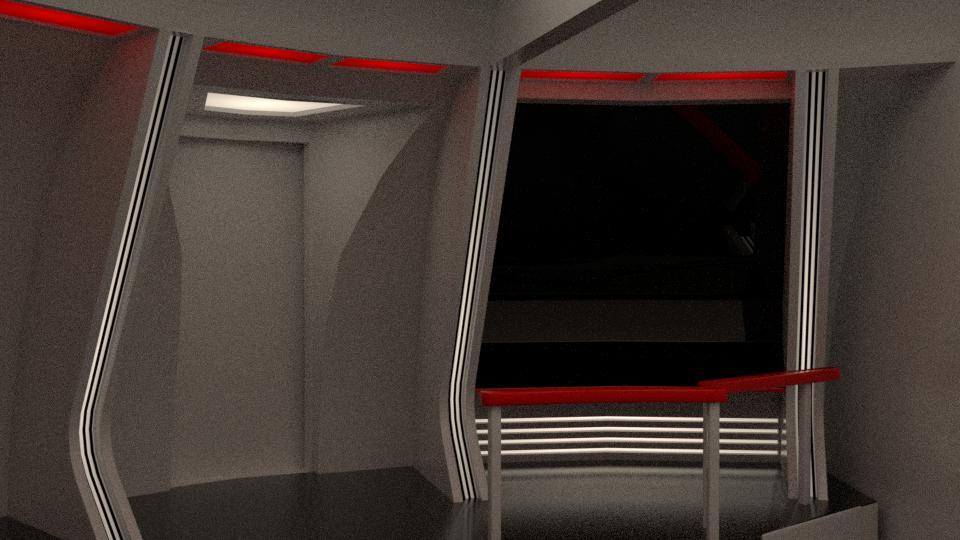 Stargazer Bridge Pre-Refit WIP by SpiderTrekfan616