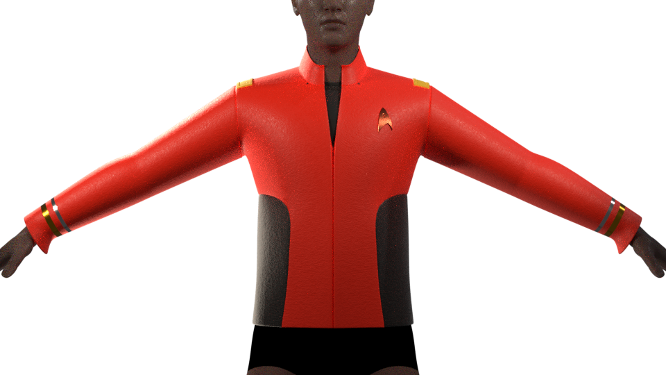 Castaways Uniform Tunic WIP by SpiderTrekfan616