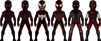 Crimson Spider PS4 Alternate Costumes by SpiderTrekfan616