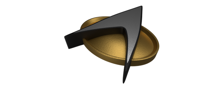 TNG Combadge by SpiderTrekfan616