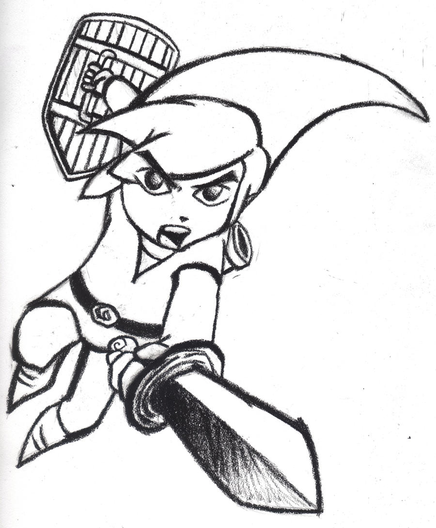 toon link coloring pages - photo#13