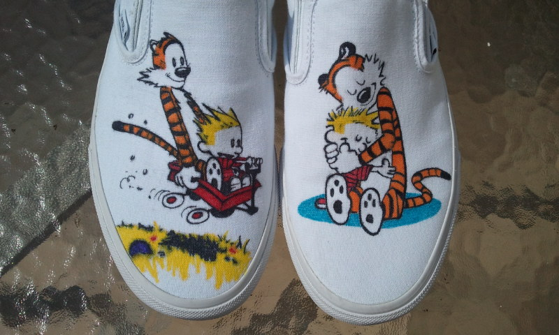 Calvin and Hobbes Custom Shoes by Kyg0n