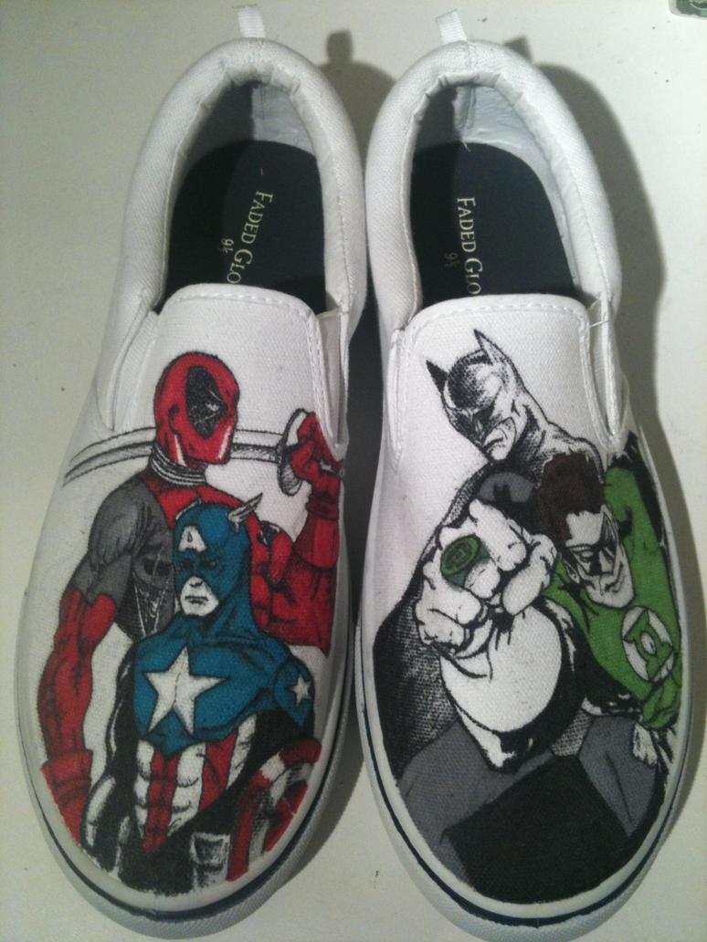marvel dc shoes by kyg0n on deviantart