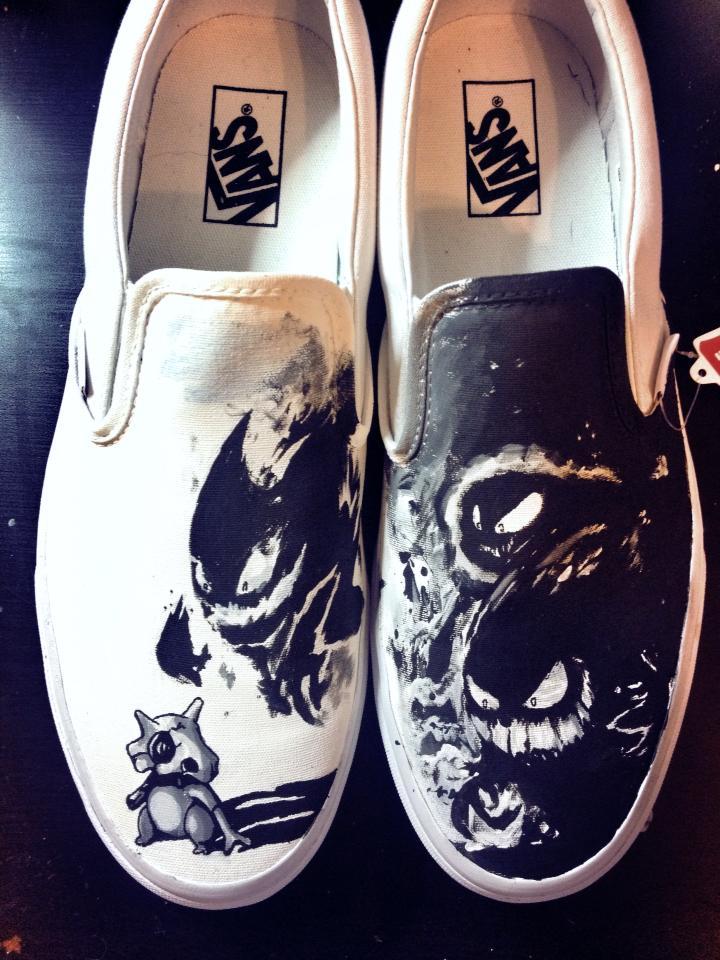 Cubone Haunter Ghastly and Gengar Custom Vans by Kyg0n