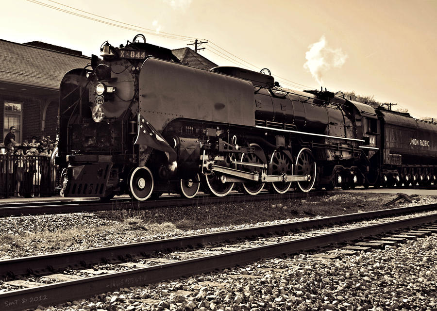 UP 844 Steam 4-8-4 by SMT-Images