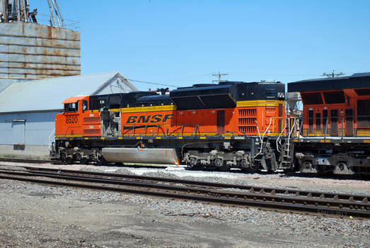 BNSF 8520 Post Collision