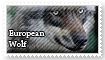 European Wolf Stamp by Canisography