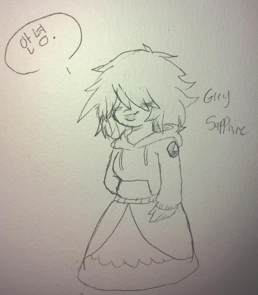 Gemsona: Grey sapphire by kate2002345