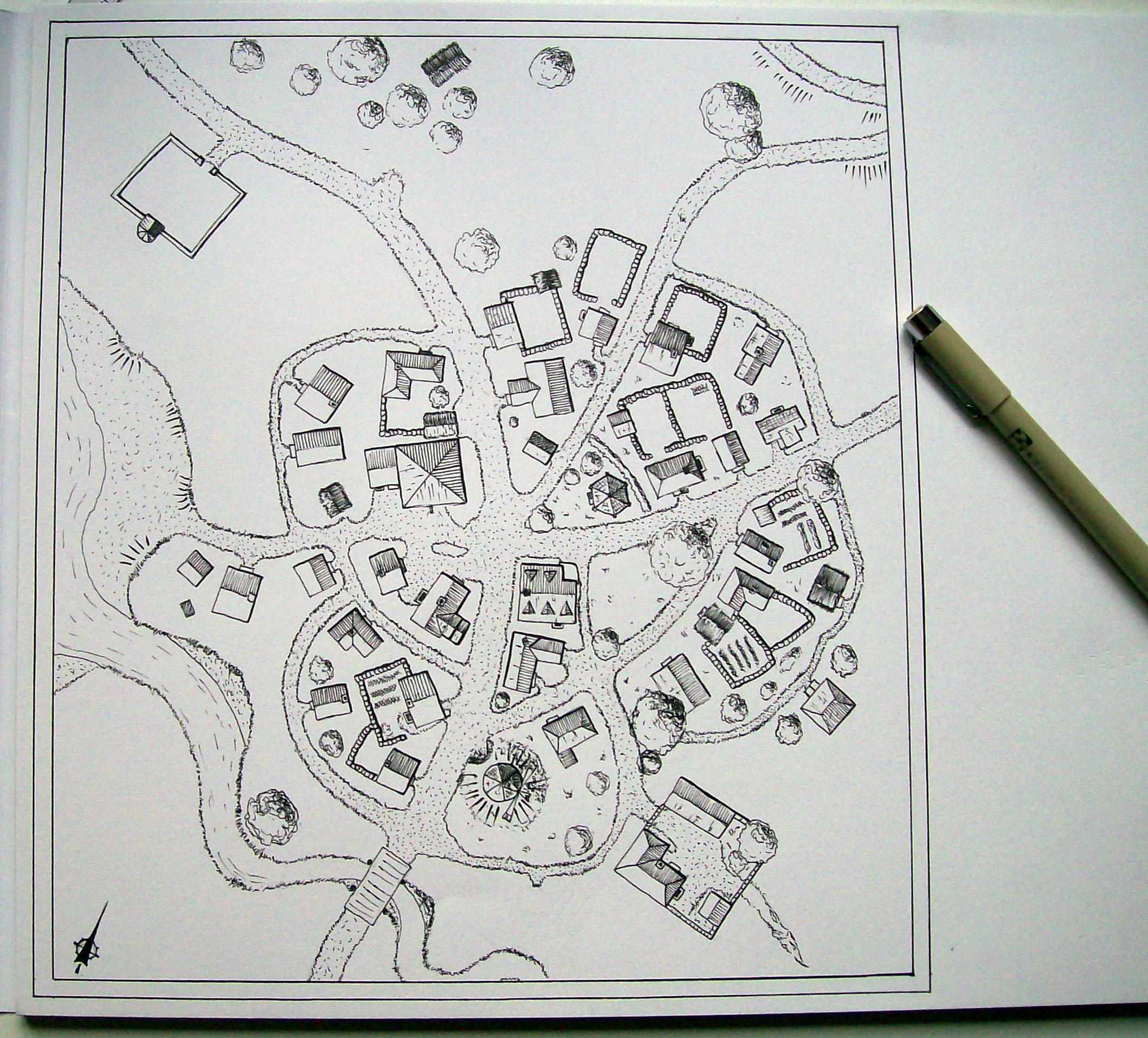 Small Village Map By Brian Van Hunsel On Deviantart