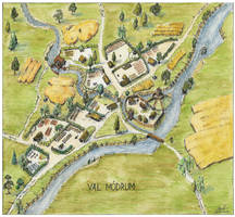 Val Modrum village map by Brian-van-Hunsel