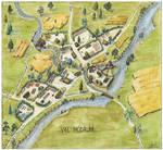 Val Modrum village map