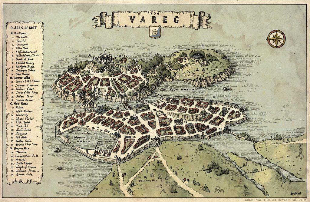 Tun Vareg - City Map