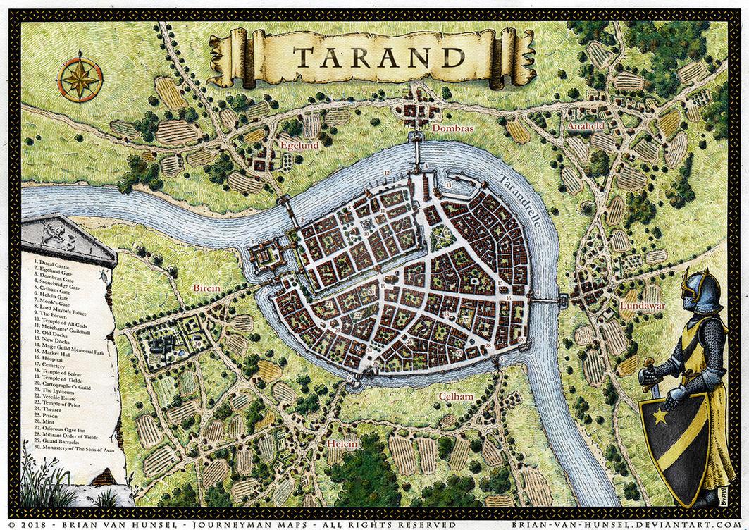 Tarand - City Map by Brian-van-Hunsel