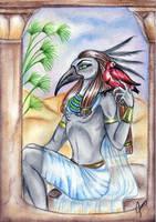 Egyptian God Thoth by SirLordAshram