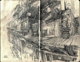 Pit City Market Are Sketch by niuner