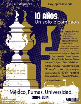 Pumas bicampeon 2004-2014