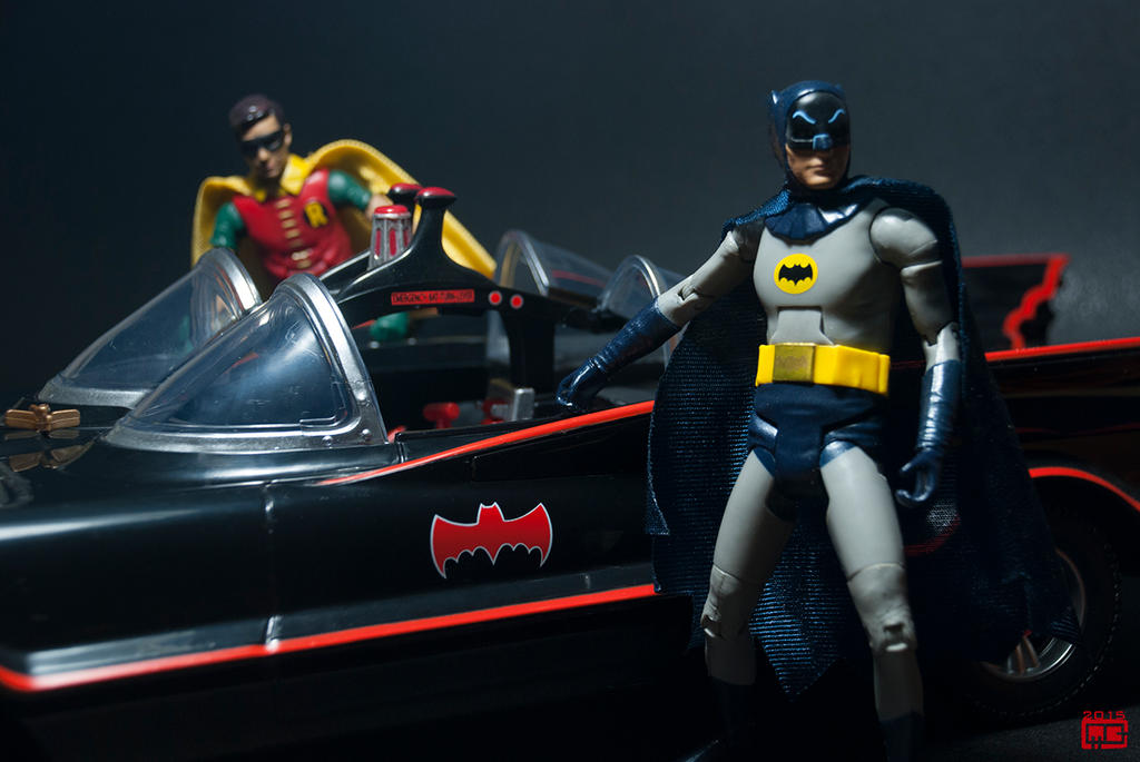 Batmobile with Batman and Robin by Fantitlan