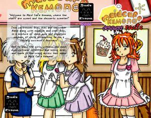 Maid Cafe Kemono Dessert Panic! - wraparound cover