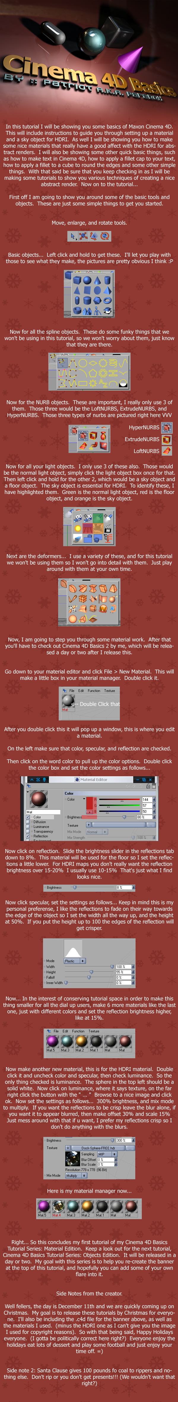 C4D Basics: Material Edition