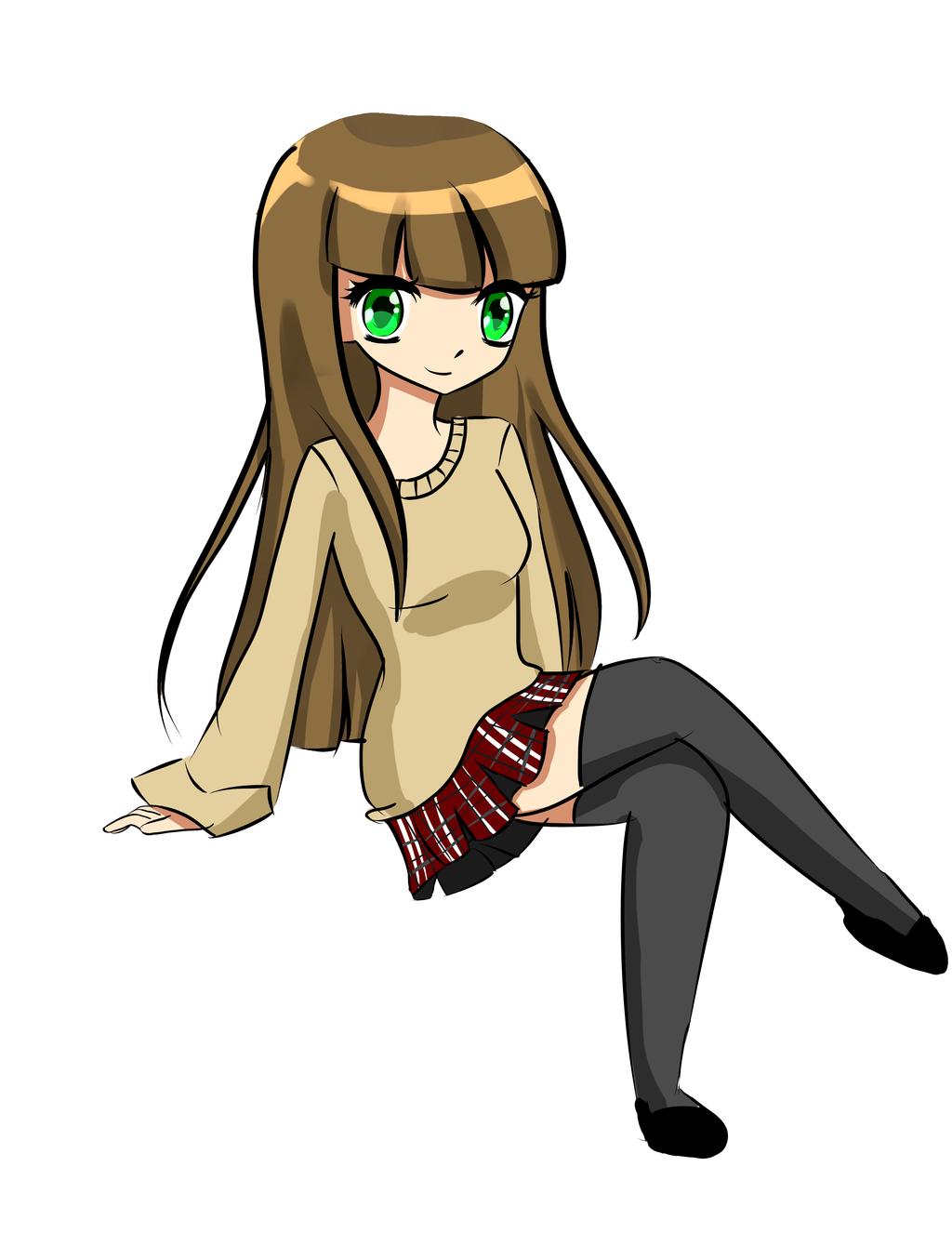 Nerd Girl Doodle by daisy1357911 on DeviantArt