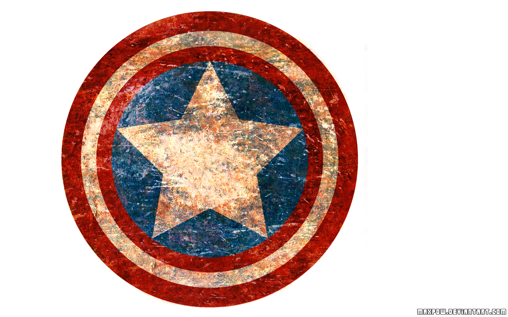 Captain America Shield Drawing: Captain America Old Shield By Maxpow On DeviantArt
