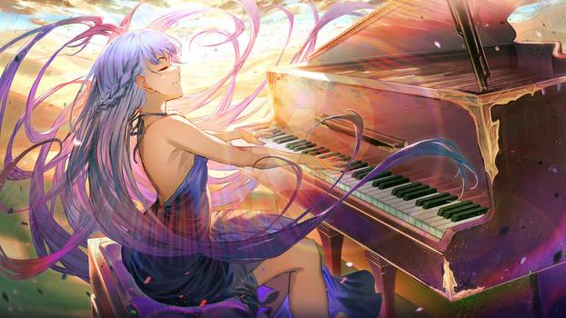 Sophia at the piano