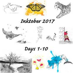 Inktober Days 1-10 by Adlaya