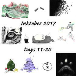 Inktober Days 11-20 by Adlaya