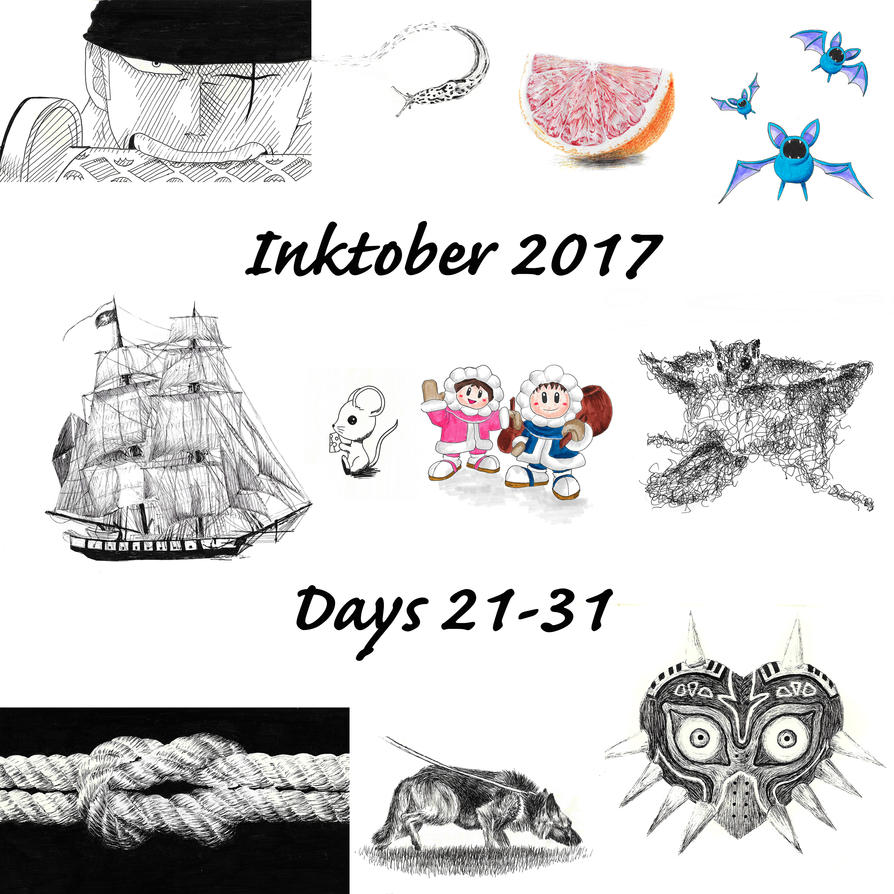 Inktober Days 21-31 by Adlaya