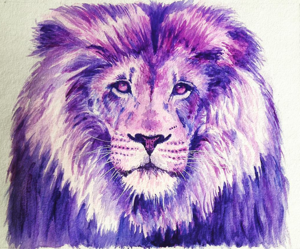 Purple Lion by Adlaya