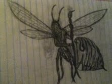 Queen wasp by Bysthedragon