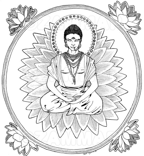 Buddha ink by zammap on DeviantArt