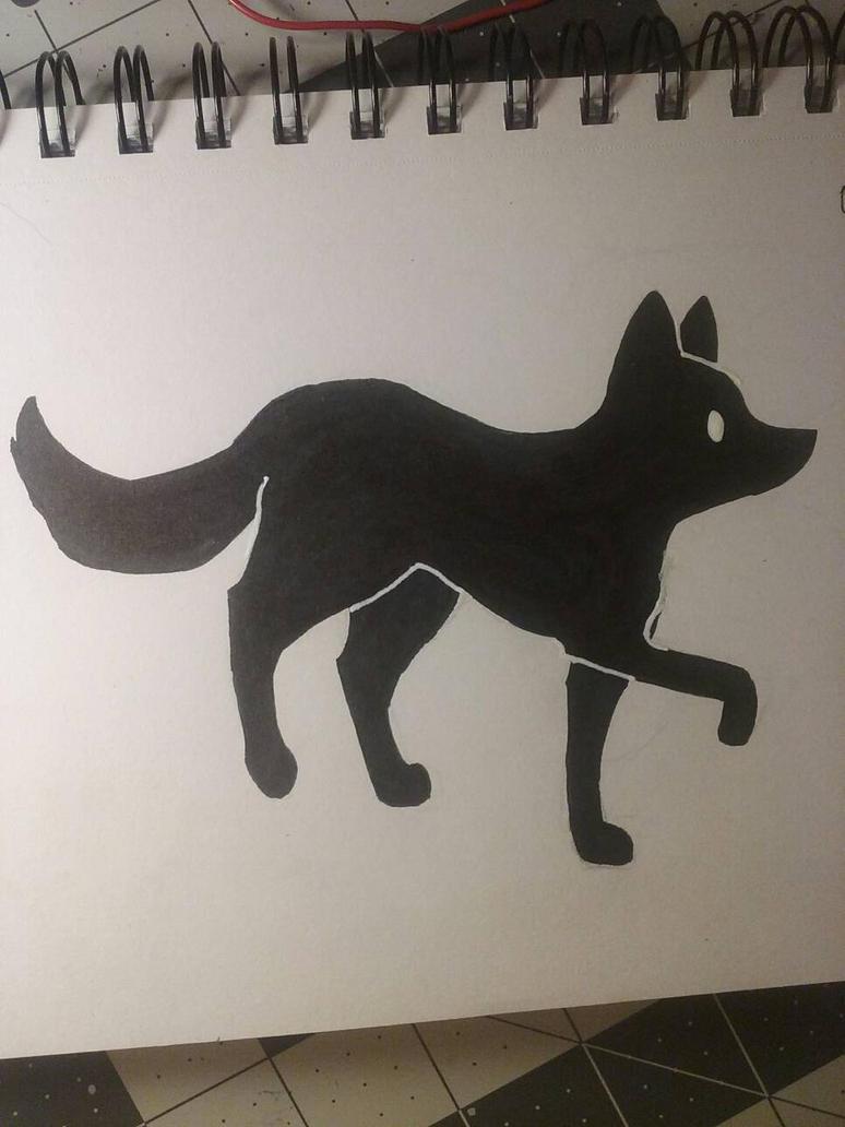 fox silhouette by AkiraSuzumiya