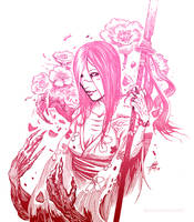 Hisako doodle by AleksiRemesArt