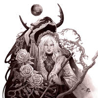 Moonlit Thoughts by AleksiRemesArt