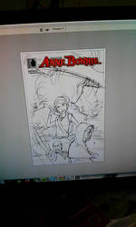 Anne Bonnie #2 cover drawing