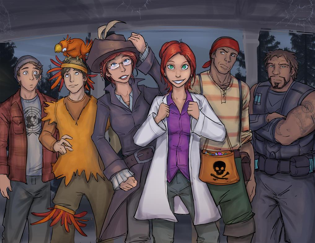 Blue Juice Comics Halloween by TimYates