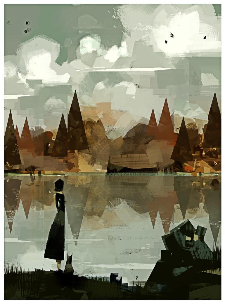 Mirror.lake.PRINT by betteo