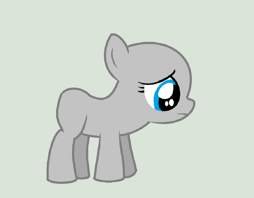 mlp sad filly base by ihasglitterfiends on deviantart