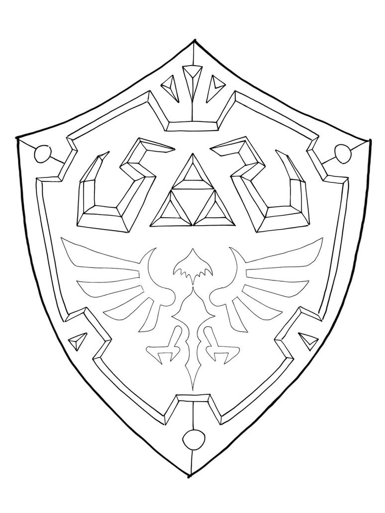 Hylian Shield Template By MaxM2015 On DeviantArt