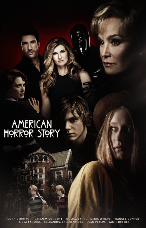 American horror story murder house poster by panchecco for Murder house for sale american horror story