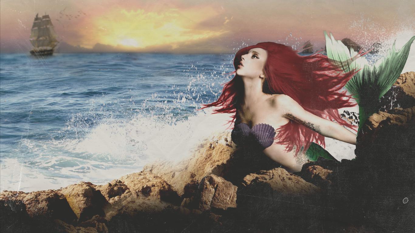 lady_gaga_as_ariel___the_little_mermaid_