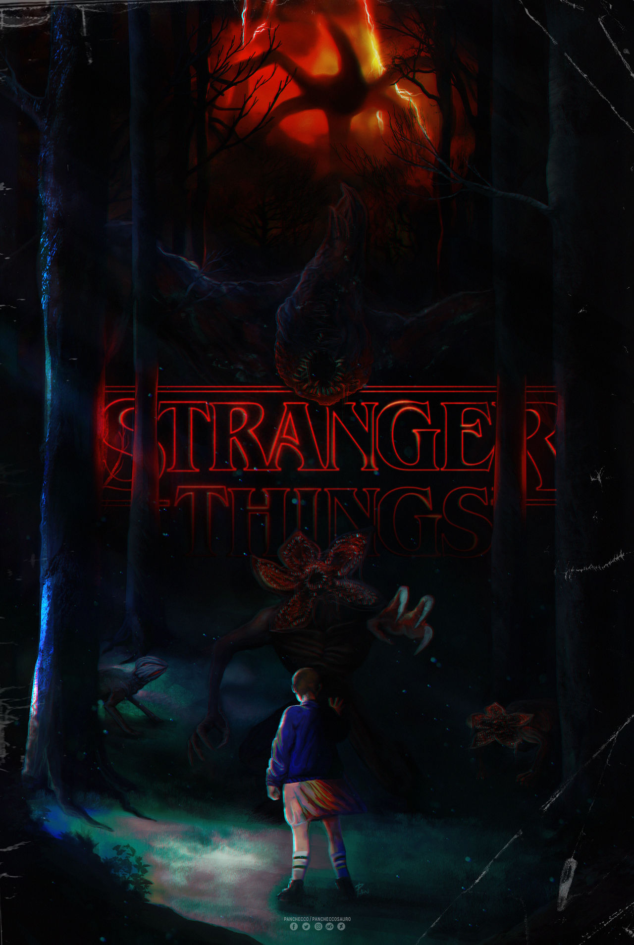 Stranger Things Poster By Panchecco On Deviantart Trends is excited to bring stranger things posters, calendars, planners, decals, stickers and bookmarks to the fans who love the mystery and adventure centered around hawkins, indiana. stranger things poster by panchecco on