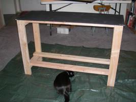 terrarium table - prepaint fitting