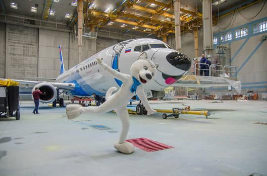 U-Laika and his plane! :)