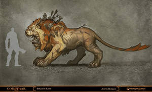 God of War - Piraeus Lion by Raggedy-Annedroid