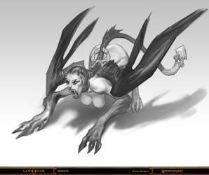 God of War - Sphinx by Raggedy-Annedroid
