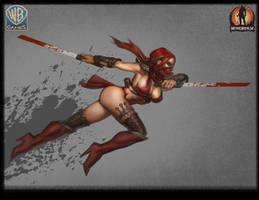 Mortal Kombat 9 Skarlet by Raggedy-Annedroid